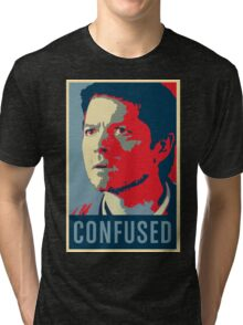 Cas is confused Tri-blend T-Shirt
