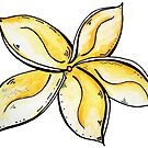 Fun & Funky Tropical Plumeria Flower PoP Art by MADART by MADARTDesigns