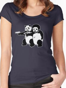 Funny! Pulp Pandas Women's Fitted Scoop T-Shirt