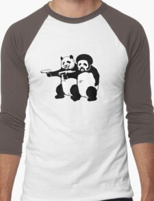 Funny! Pulp Pandas Men's Baseball ¾ T-Shirt