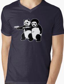 Funny! Pulp Pandas Mens V-Neck T-Shirt