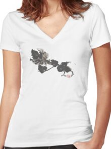 From the Earth  Women's Fitted V-Neck T-Shirt