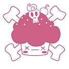 Evil Cupcake of DOOM! Greeting cards and postcards by Glitched