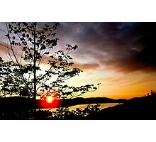 Sunset over Lac Tremblant Photographic Print