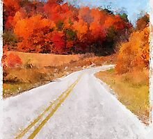 Arkansas Roadway  ~  Watercolor by Carolyn Wright