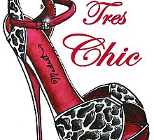 Fun & Flirty Fashionable Shoe Art Tres Chic by MADART by MADARTDesigns