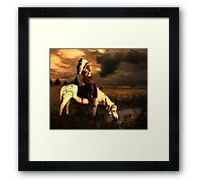 A Water Hole Framed Print