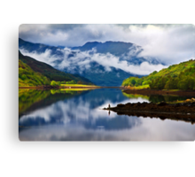 Loch Leven Reflections. North West Highlands. Scotland. Canvas Print