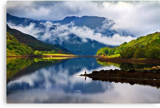 Loch Leven Reflections. North West Highlands. Scotland. by photosecosse /barbara jones