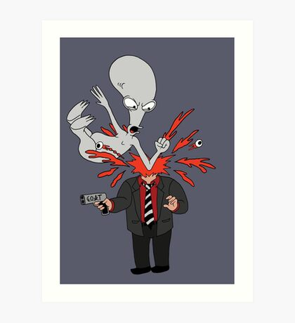 AMERICAN DAD - ROGER SLAM Art Print