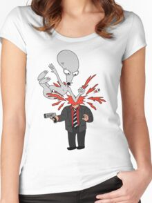 AMERICAN DAD - ROGER SLAM Women's Fitted Scoop T-Shirt