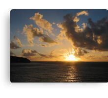 Sunrise With Clouds St. Martin Canvas Print