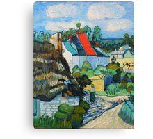 Van Gogh, A Study of a Straw Hut Canvas Print
