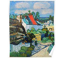Van Gogh, A Study of a Straw Hut Poster