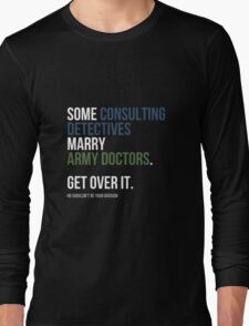 Some Consulting Detectives... - White Text Long Sleeve T-Shirt