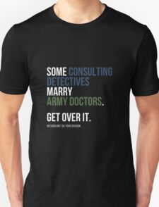 Some Consulting Detectives... - White Text T-Shirt