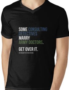 Some Consulting Detectives... - White Text Mens V-Neck T-Shirt