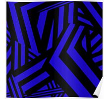 Patterned Pathways (Blue) Poster