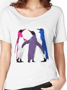 Bisexual Pride Penguins Women's Relaxed Fit T-Shirt