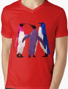 Bisexual Pride Penguins Mens V-Neck T-Shirt