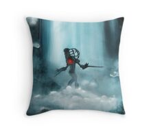 Big Sister is coming Throw Pillow