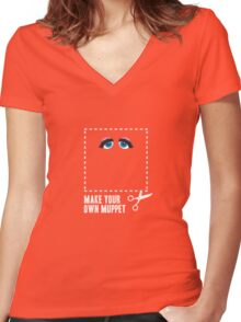 Make Your Own Muppet - Miss Piggy Women's Fitted V-Neck T-Shirt