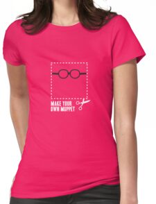 Make Your Own Muppet - Prof. Bunsen Womens Fitted T-Shirt