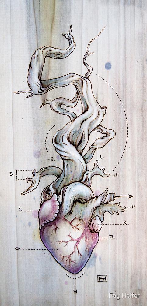 Driftwood Heart 02 by Fay Helfer