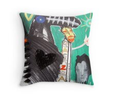 back to back 10 Throw Pillow
