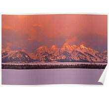 Grand Teton WInter Sunrise Poster
