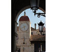 Trogir Clock Tower Photographic Print