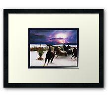 White Sands Horses Framed Print