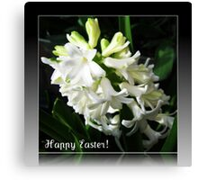 Easter Card with Dreamy White Hyacinth Canvas Print