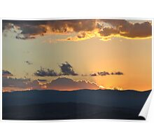 Rays of Tranquil sunset Poster