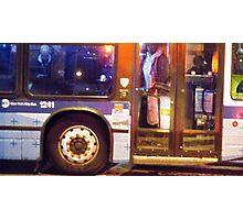 New York City Bus Ride Photographic Print