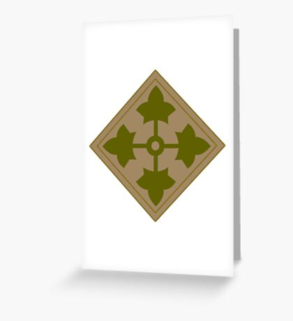 Fourth Infantry Division Insignia Greeting Card
