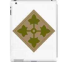 Fourth Infantry Division Insignia iPad Case/Skin