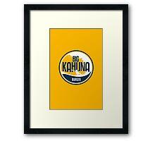 Big Kauna Burger Framed Print