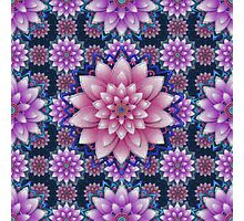 Embroidered pink&purple Photographic Print