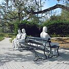 """""""Three Figures and Four Benches""""  George Segal by AJ Belongia"""