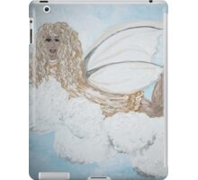 A Child's Guardian Angel in Gold and Silver iPad Case/Skin