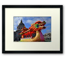 The Dragon Boat and City Hall Framed Print