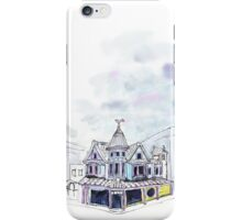 Inky Architecture - The Lucky Cat Cafe  iPhone Case/Skin