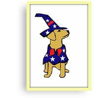 Fourth of July Dog Canvas Print