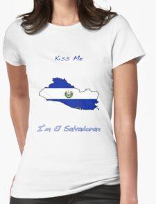 Kiss Me I'm El Salvadoran Womens Fitted T-Shirt