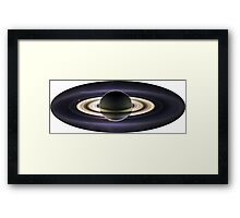 Earth From Saturn VIA Cassini Framed Print