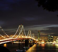 Bay Bridge thru the Trees by Bob Moore