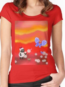 Art on Vacation  Women's Fitted Scoop T-Shirt