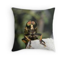 robber or assassin fly Throw Pillow