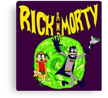 Rick and Morty BatDimension Canvas Print